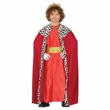 Koning mantel rood verkleedcarnavalskleding kinderen arnhem