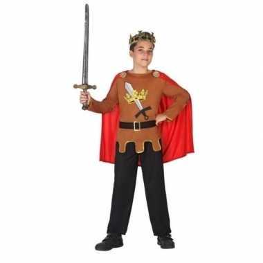 Middeleeuwse ridder/koning arthur verkleed carnavalskleding jongens