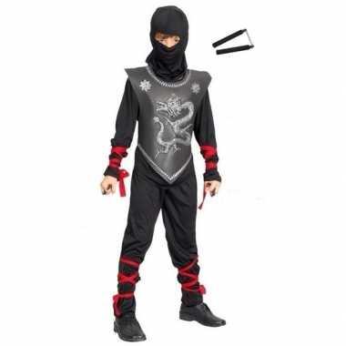 Ninja carnavalskleding maat m vechtstokken kinderen arnhem