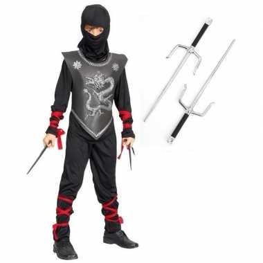 Ninja carnavalskleding maat s dolken kinderen arnhem
