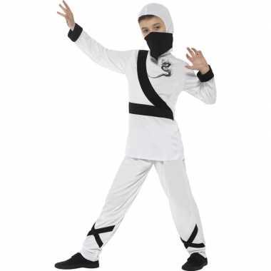 Ninja carnavalskleding wit/zwart kinderen arnhem