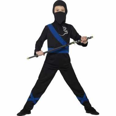 Ninja carnavalskleding zwart/blauw kinderen arnhem