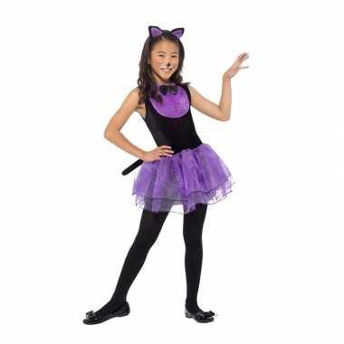 Paars/zwarte kat/poes carnavalskleding meiden arnhem