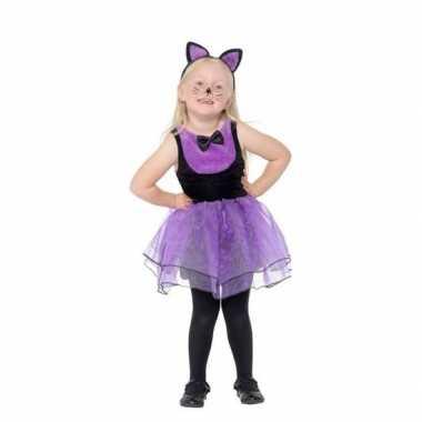 Paars/zwarte kat/poes carnavalskleding peuters arnhem