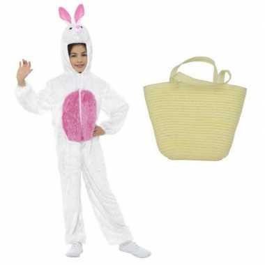 Paashaas carnavalskleding wit maat s paasmandje kinderen arnhem