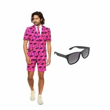 Palmbomen zomer heren carnavalskleding maat (l) gratis zonnebril arn