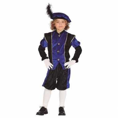 Pieten verkleed carnavalskleding zwart/blauw jongens/meisjes arnhem