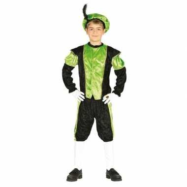 Pieten verkleed carnavalskleding zwart/groen jongens/meisjes arnhem
