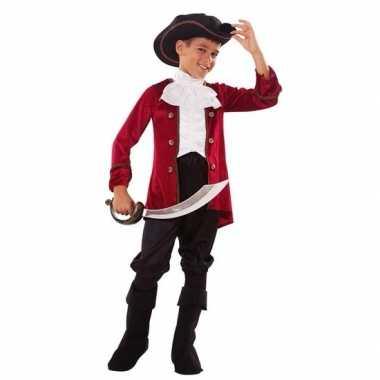 Piraten carnavalskleding rood/zwart jongens arnhem