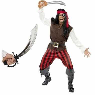 Piraten carnavalskleding zwaard maat m volwassenen arnhem