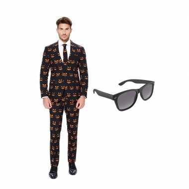 Pompoen print heren carnavalskleding maat (m) gratis zonnebril arnhe