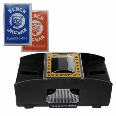 Set kaartenschudmachine batterijen / carnavalskleding speelkaarten a