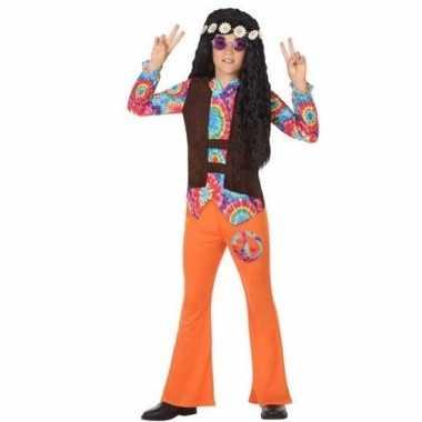 Sixties/hippie verkleed carnavalskleding oranje jongens arnhem