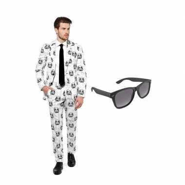 Stormtrooper heren carnavalskleding maat (xl) gratis zonnebril arnhe