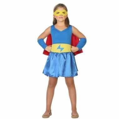 Supergirl jurk/jurkje verkleed carnavalskleding meisjes arnhem
