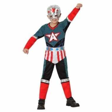 Superheld kapitein amerika carnavalskleding/verkleed carnavalskledin
