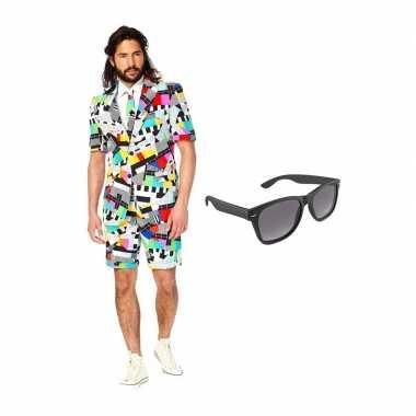 Testbeeld heren zomer carnavalskleding maat (m) gratis zonnebril arn