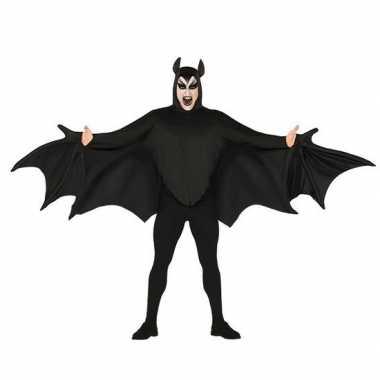 Vleermuis verkleed carnavalskleding zwart heren arnhem