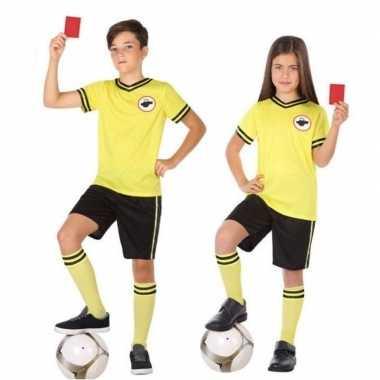 Voetbal scheidsrechter verkleed carnavalskleding kinderen arnhem