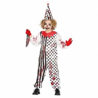 Zombie moordenaar enge clownscarnavalskleding kinderen arnhem