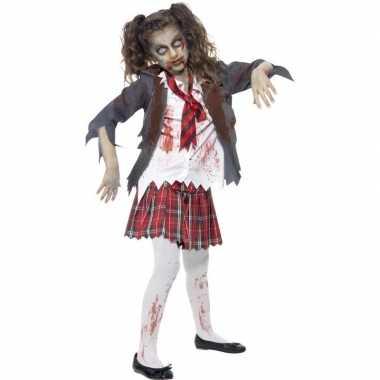 Zombie schoolmeisje carnavalskleding meisjes arnhem