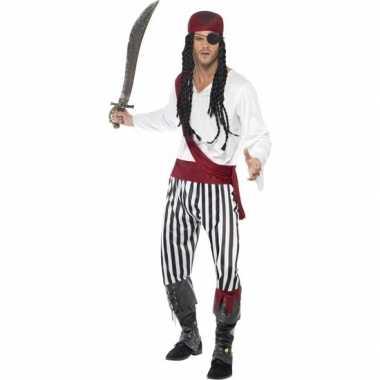 Zwart/wit piraten carnavalskleding heren arnhem