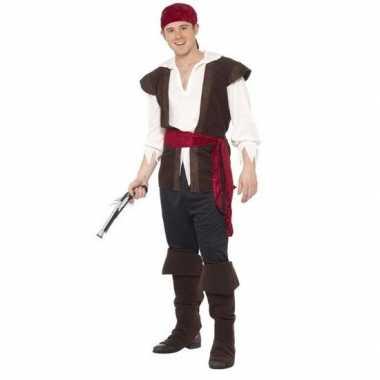 Zwart/wit/rood piraten carnavalskleding heren arnhem
