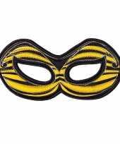 Carnavalskleding bijen oogmasker geel kinderen arnhem