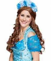 Carnavalskleding blauwe bloemen diadeem arnhem