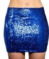 Carnavalskleding blauwe glitter pailletten disco rokje dames arnhem