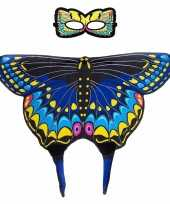 Carnavalskleding blauwe zwaluwstaart vlinder verkleedset meisjes arnhem