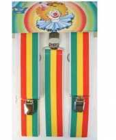 Carnavalskleding bretels rood geel groen arnhem