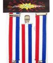 Carnavalskleding bretels rood wit blauw arnhem