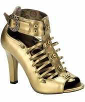 Carnavalskleding bronzen sandaal pumps victoria arnhem