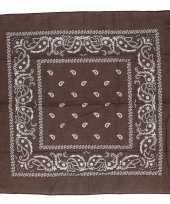 Carnavalskleding bruine bandana zakdoek arnhem