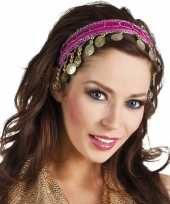 Carnavalskleding buikdanseres hoofdband diadeem fuchsia roze dames verkleedaccess arnhem