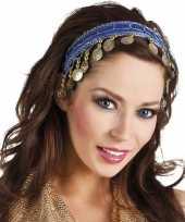 Carnavalskleding buikdanseres hoofdband diadeem kobalt blauw dames verkleedaccess arnhem