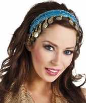 Carnavalskleding buikdanseres hoofdband diadeem turquoise blauw dames verkleedacc arnhem