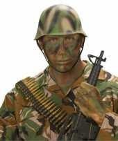 Carnavalskleding camouflage helm soldaat arnhem