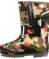 Carnavalskleding camouflage meiden regenlaarzen hartjes arnhem