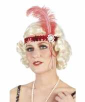 Carnavalskleding charleston hoofdband rood arnhem