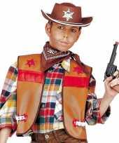 Carnavalskleding cowboy hesje bruin kinderen arnhem