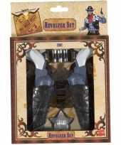 Carnavalskleding cowboy verkleedset revolvers holster volwassenen arnhem