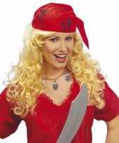 Carnavalskleding dames piraten pruik bandana arnhem