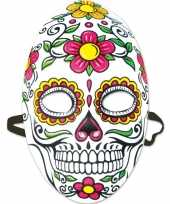 Carnavalskleding day of the dead sugarskull gezichtsmasker dames arnhem