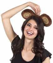 Carnavalskleding diadeem bruine apenoren volwassenen arnhem