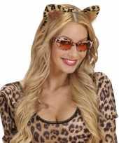 Carnavalskleding diadeem luipaard oren arnhem