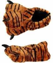Carnavalskleding dierenpoot sloffen tijger kinderen arnhem