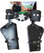 Carnavalskleding dubbele sheriff cowboy holsters verkleed accessoire arnhem