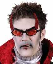 Carnavalskleding duivel bril rode glazen arnhem